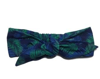 headband tie headwrap, turban tie, tropical headband, hair accessory, headband, made in france
