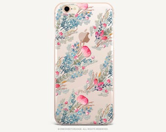 iPhone 8 Case iPhone X Case iPhone 7 Case Floral Clear GRIP Rubber Case iPhone 7 Plus Clear Case iPhone SE Case Samsung S8 Plus Case U5
