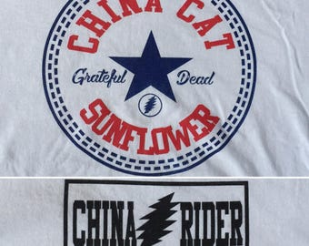 Grateful Dead Shirt-China Cat Sunflower Lot Shirt-Adult Uni T Shirt Sizes S M L XL XXL