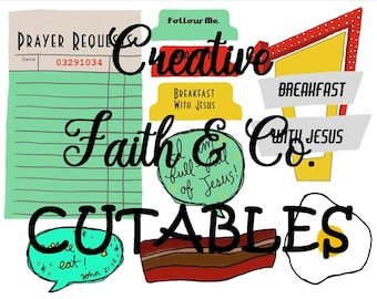 Bible Journaling Printable Devotion Kit - Breakfast with Jesus (Creative Faith Cutables)