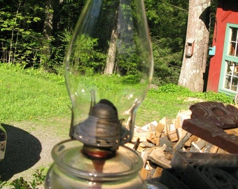 Early Kerosene Oil Lamp Patented 1870. All Original