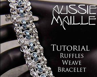 Chain Maille  Tutorial - Ruffles Weave Bracelet