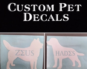 Personalized Pet Decals - ANY animal