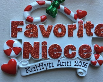 33% Off Niece Personalized Christmas Ornament Baby's  First Christmas, Goddaughter,
