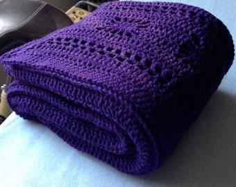 Handmade Cozy Crochet Throw Blanket
