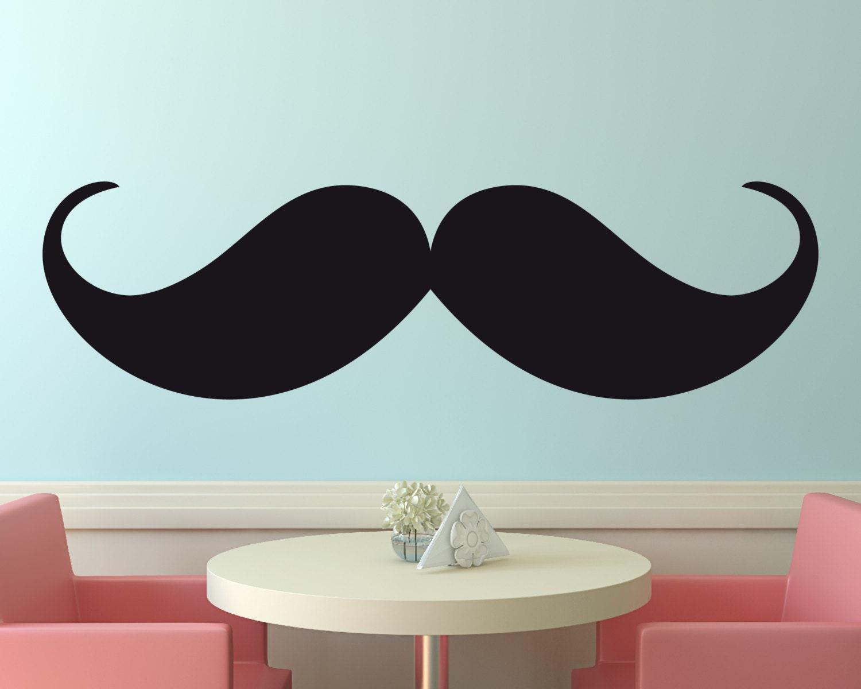 ?zoom & Vinyl Wall Decal Mustache Wall Decal Menu