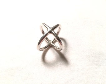 925 sterling silver X ring size 6.5