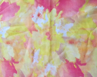 3 yards--Multi colored floral chiffon fabric