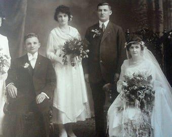8*10 victorian wedding photograph