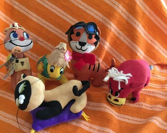 Rare huge group- vintage Dakin Dream Pets - New Dream Pets - Fun Farm - Treasure Pet - Dream Pet Ads
