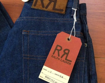 90's RRL Boot Cut Jeans - 27/36 - NWT Deadstock - Made in USA -