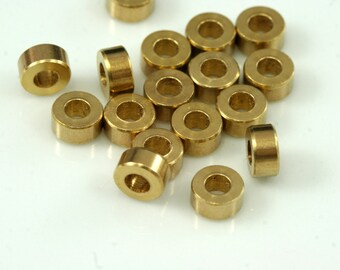 20 Pcs Raw Brass Cylinder 3x6mm (hole 3 mm) 1650 bab3