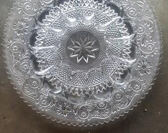 Duncan Glass deviled egg plate