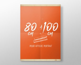 Grip Poster sur mesure de 80 à 100 cm | Porte affiche en bois, Cadre sérigraphie, Cadre poster, Cadre photo, Cintre affiche film