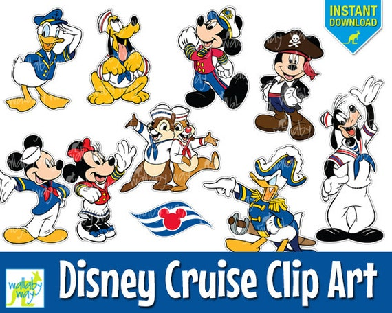 Disney cruise digital clip art with mickey minnie donald for Disney fish names