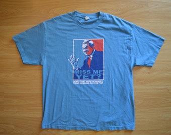 X-Large // XL // Miss Me Yet // Bush // George W Bush // Obama // Political // Republican // Democrat // Trump // Blue