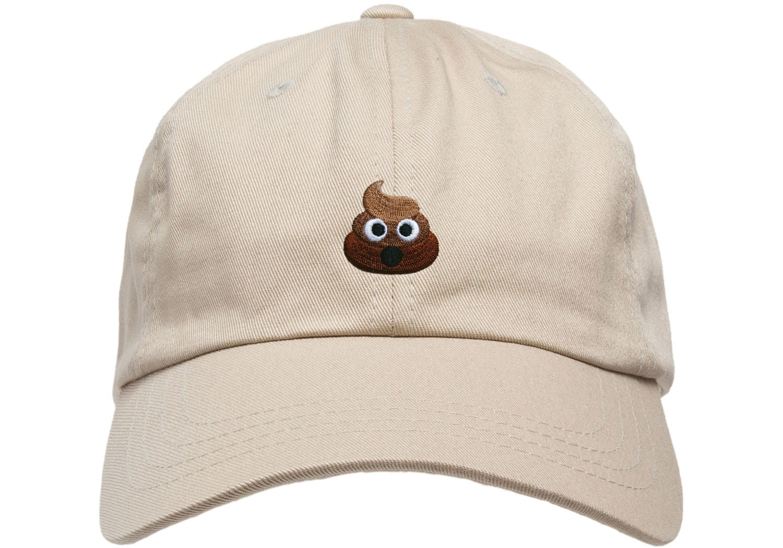 premium merde emoji chapeau papa cap d structur e r glable w. Black Bedroom Furniture Sets. Home Design Ideas