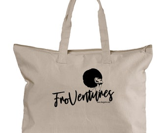 FroVentures Canvas Zippered Tote