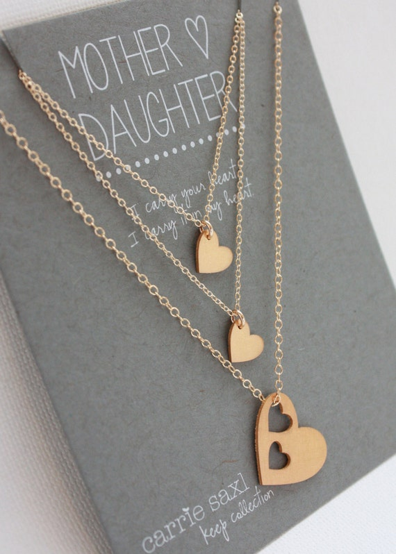 Mother daughter necklace set mothers day gift like this item aloadofball Images