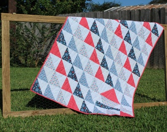 Quilt Pattern PDF - Half Square Triangle Sailboat Quilt