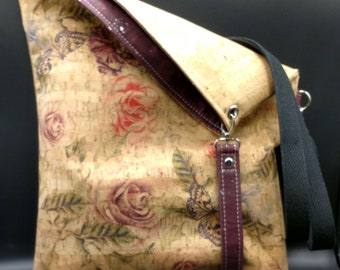 Cork Fresno Foldover crossbody bag