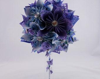 Rustic origami bridal bouquet