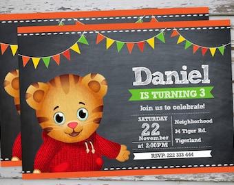Daniel Tiger Cupcake Toppers Chalkboard Daniel Tiger Birthday