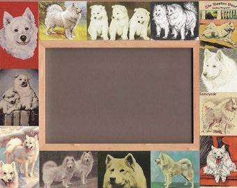 SAMOYED Picture Frame / Vintage Antique Art / Dog Gift / Animal Lover / Photo