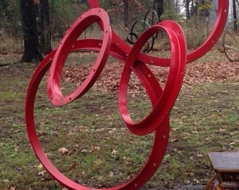 Ring of Red Yard Art