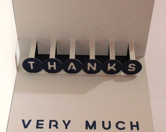 Thank you card. Popup, 3D