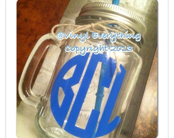 Personalized Mason Jar with Lid & Straw