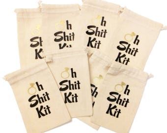 Oh Shit Kit Bachelorette party favors, hangover kits, recovery kits, hangover survival kits, bachelorette party survival kits