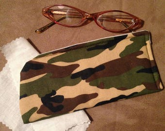 Camouflage Eyeglass Case/Eye glass Case/Women Eyeglass Case