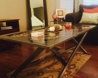 Bottle cap coffee table