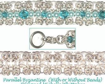 Parallel Bzyantine Crystal Chain Maille Bracelet Tutorial PDF