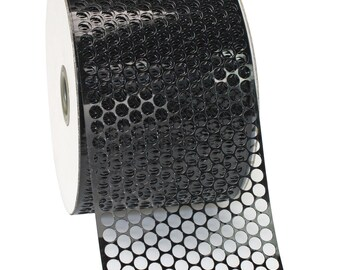 3-1/2 inch x 10 yds 100% Metallic Honeycomb, Black