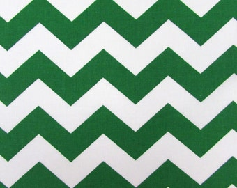 "1"" Green Chevron Fabric"