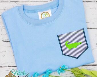 Gator Pocket Tee, Alligator Pocket Tee, Gator Shirt, Alligator Shirt