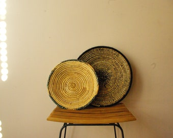 Wicker Basket with wool