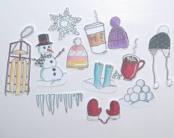 Winter Sticker Pack~Free Shipping