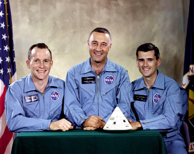 Apollo 1 Astronauts Ed White, Gus Grissom and Roger Chafee - 5X7, 8X10 or 11X14 NASA Photo (EP-424)