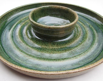 Chip and Dip Bowl in Deep Green