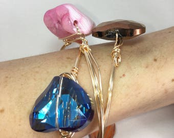 Bangles with crystals and stones