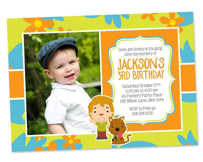 Scooby Doo Photo Invitation Scooby Doo Party Invitation