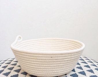 Cotton Rope Basket, Storage Basket, Bowl, Boho Decor, Cosmetics Organizer, Jewelry Holder, Kitchen Storage,  Rope Coil Basket, Scandi, Gift