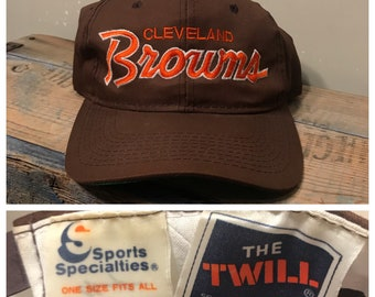 Vintage Cleveland browns hat // sports specialities the twill // rare retro hat // script cap / browns hat cap // snapback //
