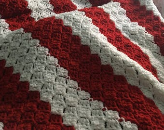 Valentine's Day or christmas throw blanket