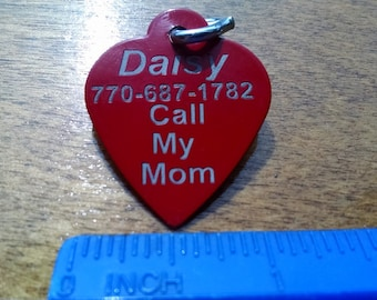 Heart Style Dog Tags for Pets Small to Medium Sized Dogs