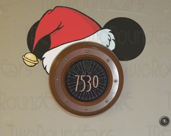 DCL Stateroom Door Porthole Ears - Christmas