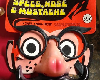 Vintage Marx Brothers Groucho Specs, Nose & moustache disguise toy by Funworld nos MOC